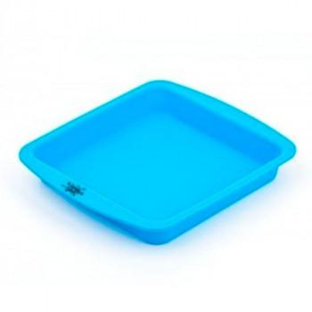 Bandeja Silicona Grande Cuadrada Azul NogoO