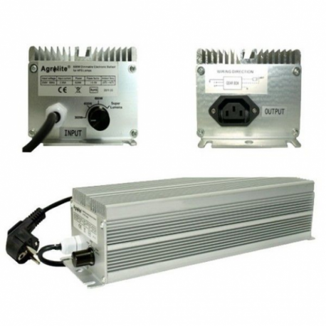 BALASTRO ELECTRONICO AGROLITE 600w Regulable